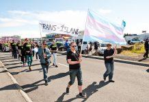 Trans Ísland í kröfugöngu